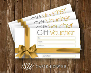 12 x Easter Blank Gift Vouchers Generic Gift Card Gold Bow Shop Promotions
