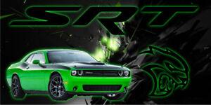 Dodge Challenger Hellcat SRT Vinyl Garage Banner Man Cave Sign