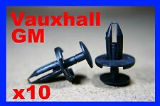 10 Vauxhall GM wheel arch cover mud splash guard panel push fastener clips