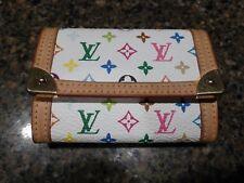 Louis Vuitton Multicolor Murakami White Porte Monnaie Plat Coin and Card Purse