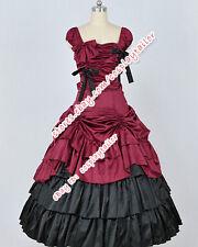 Southern Belle Reenactment Civil War Satin Lolita Dress Prom Clothing Costume