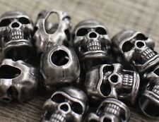 Lot 10 S Iron Grey Metal Skull Bead Paracord Lanyards Bracelets Charms Crafts