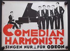 Original Vintage Plakat Comedian Harmonists Schallplattenwerbung