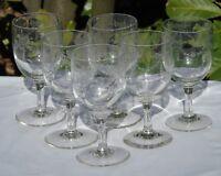 Meisenthal - Service de 6 verres à eau en verre gravé, gravure Empire. Début Xxe