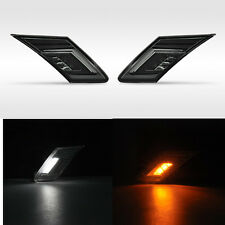 2x Amber white dual LED Side Marker Lights drl Signals For Scion FR-S Subaru BRZ