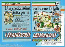 TOP990-PUBBLICITA'/ADVERTISING-1990- BOLAFFI - FRANCOBOLLI MONDIALI  -3 fogli