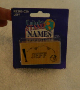 "United We Stamp 1"" x 2"" Name-Jeff"