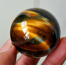 100% Natural Rare Tiger Eye Crystal Ball Gemstone Sphere Minerals Healing Stone~