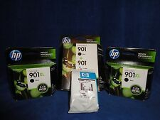 HP 901 INK LOT- COLOR AND BLACK