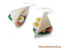 orecchini tramezzino tonno uova e lattuga in fimo handmade sandwich panino