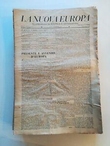LA NUOVA EUROPA settimanale di politica e letteratura 1944/46 quasi tutto il pub