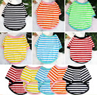 Pet Summer Clothes Color Striped Cotton 2-legged T-shirts For Small Dogs Dulldog