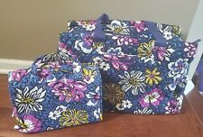 Vera Bradley Triple Compartment Bag Plus Hanging Organizer in African Violet NWT