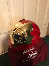 Masei 610 Red Gold Chrome Atomic-Man Motorcycle Bike Harley Bull Icon Helmet 3PO