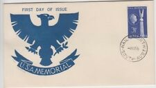 Stamp 1955 Australia 3&1/2d USA memorial Jack Peake art cachet FDC, NAILSWORTH