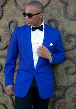 Men Blue Jacket Blazer Coat Designer Grooms Wedding Casual Dinner Party Wear