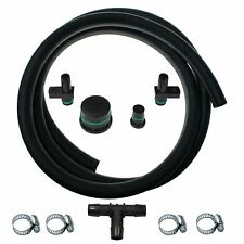6.6L DURAMAX PCV Reroute Kit With 8 ft Hose & Resonator Plug BLACK