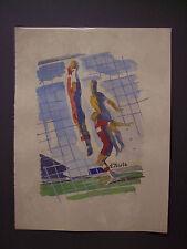 MILIVOJ UZELAC Les Joies du Sport FOOTBALL (CALCIO), litografia e pochoir, 1932