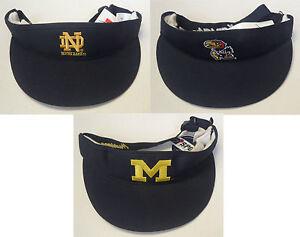 NWT NCAA Sports Specialties Assorted Teams Visor Buckleback Cap Hat OSFA NEW!