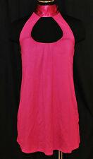 Arden B. CHIC Pink Stretchy Silk Tie Day to Eve Halter Top Shirt Tunic Blouse S