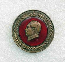 Rare Vintage communist propaganda pin badge CHINA Party Leader MAO ZEDONG enamel