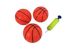 3 Pack Inflatable Magic Shot Pro Mini Hoop Basketballs with Pump (4 Inch Balls)