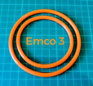Emco Unimat 3 & 4 Lathe Drive Belts Polyurethane Pu Rubber Pair Set