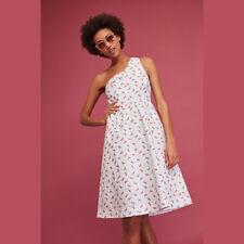 281a805b60 Anthropologie HD in Paris Womens Dress 8P One Shoulder Fit Flare Parkbound  34