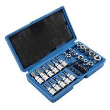 Außen Torx Nüsse 34-tlg Innentorx Nuss Steckschlüssel Bits KFZ Werkzeug Satz DHL