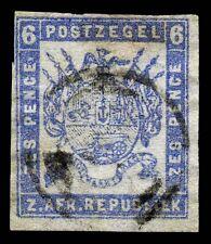 Transvaal. 1869. 6d. Ultra. SC# 2. SG 2. Otto printing. Thin paper. VF. SCV $230