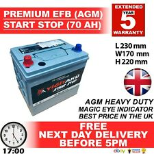 005R 072 EL604 STOP START 12V 70AH EFB AGM BATTERY HEAVY DUTY NEXT DAY DELIVERY