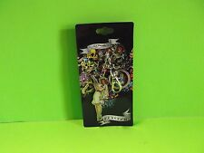 """Ed Hardy Sexy Girl in Nurse Outfit Holding Needle Metal Key Chain 2.5""""in Tall"""