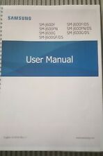 SAMSUNG GALAXY J3 J330F  PRINTED INSTRUCTION MANUAL GUIDE 127 PAGES A5 2017