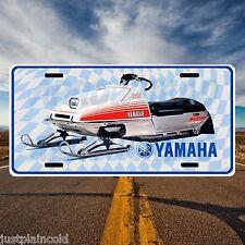 Yamaha SRX Vintage Style Snowmobile licence plate