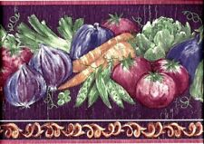 "Vintage Wallpaper Border Vegetables Kitchen 26105 Kingfisher 8.5"" x 5.5"" yds"