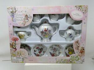 Boxed 13 Piece TOY Porcelain Fairy Tea Set - Flower Fairies Friends by Schylling