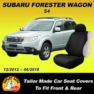 Car Seat Covers For Subaru Forester Front & Rear 12/2012 - 06/2018 Deploy Safe!!