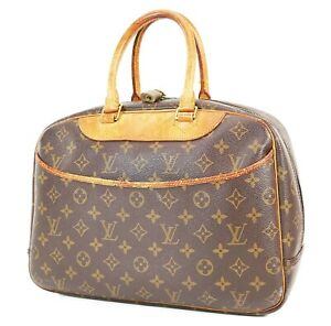 Authentic LOUIS VUITTON Deauville Monogram Hand Bag Purse #38225