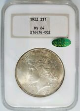 1922 Silver Peace Dollar NGC MS 64 CAC Toner Toned Toning Old Fatty Fat Holder