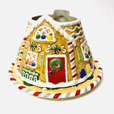 Yankee Candle Christmas Gingerbread House Ceramic Large Candle Shade & Plate