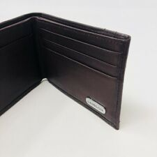 L'AIGLON Vintage Brown Leather Wallet Mens 4.5 x 3.5 Organizer
