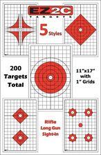 200 Genuine EZ2C Targets Five Rifle Styled Targets Gun Airsoft (NO TAX)
