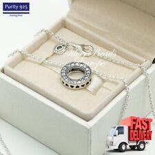Pandora Logo Pave Circle Collier Necklace, Clear CZ, 397436CZ, 45 cm Chain
