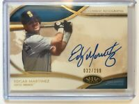 2014 Topps Tier One Baseball Edgar Martinez on card Autograph /299