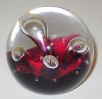 """Caithness, Scotland, Moonflower E23081 Art Glass Miniature Paperweight, 2 1/4"""""""