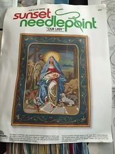 "Sunset Needlepoint Kit Our Lady Mary Baby Jesus 14"" X 18"" Religious Christmas"