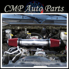 RED DUAL TWIN AIR INTAKE KIT FOR 2008-2010 DODGE RAM 1500 4.7 V8 ENGINE