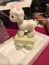 Precious Moments Birthday Train 'Happy Birthday Little Lamb' Age New In Box