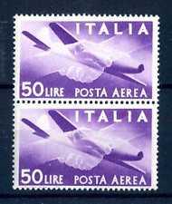 """ITALIA REP. - PA - 1947 - Serie """"Democratica"""" - Filigr. Ruota  - 50 L. - X111"""