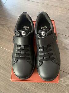 School Shoes New In Box Camper For Kids EU33 UK1 RUNNER Faux Lace  & Hook n Loop